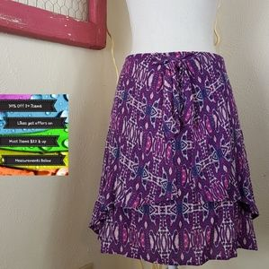🆕️Xhilaration Abstact Layered Tie Skirt